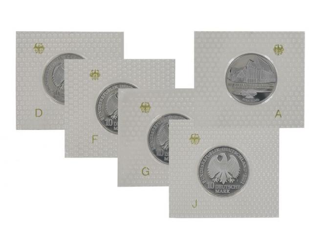 750 J. Katharinenkloster 2001 (5), 10 DM Silber, PP Folie kpl.