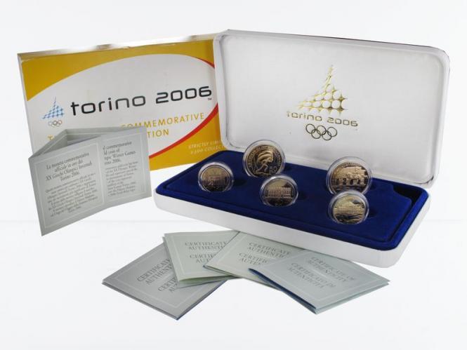 Italien Olympiade Turin (5) komplett, (B+C)