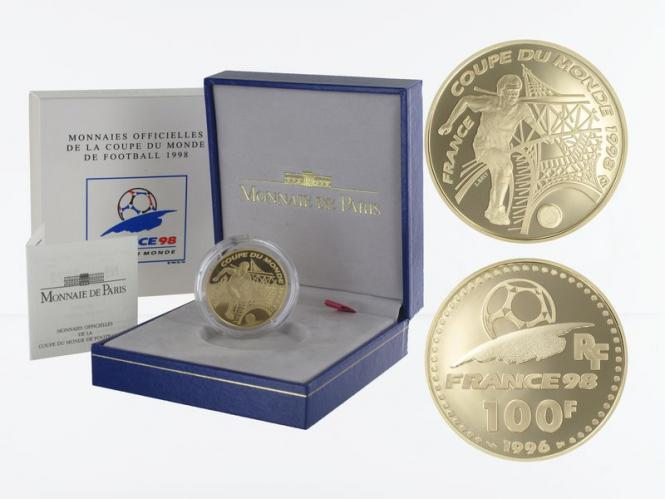 Frankreich 100 Fr Fußball-WM 1998, Eiffelturm, 1996