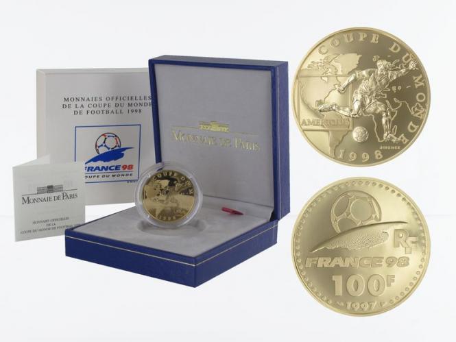 Frankreich 100 Fr Fußball-WM 1998, Amerika, 1997