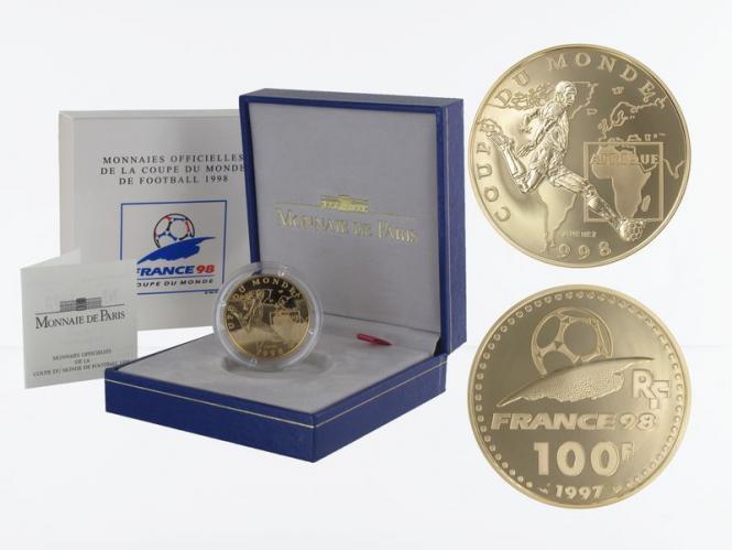 Frankreich 100 Fr Fußball-WM 1998, Afrika, 1997