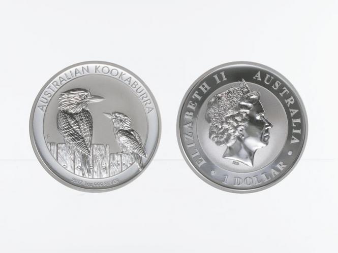 Australien 1$ Kookaburra 2017, 1 oz  Silber