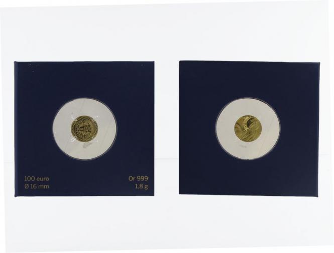 Frankreich 100 Euro Gold, 2015, Gallischer Hahn