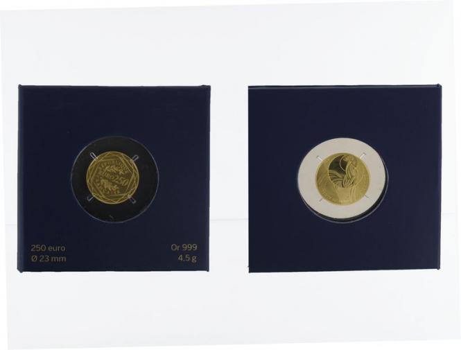 Frankreich 250 Euro Gold, 2016, Gallischer Hahn