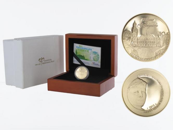Niederlande 10 Euro Gold, 2013, Friedenspalast,