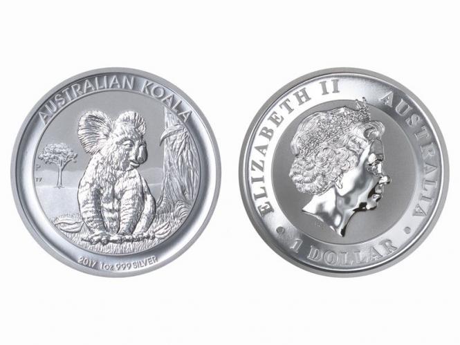 Australien 1$ Koala 2017, 1 Unze  Silber