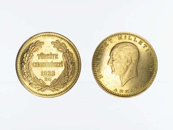 Türkei 100 Kurush Atatürk 1943 (1923/20)