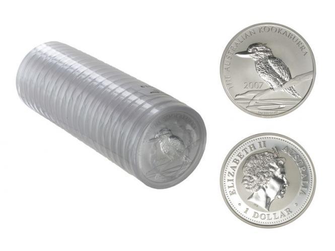 Australien 1$ Kookaburra 2007, 20x 1 oz  Silber