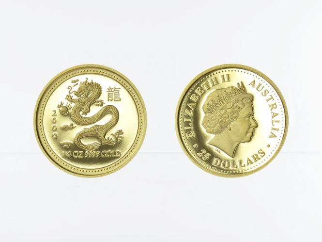 Australien 25 $ Lunar I  Drache, 1/4 Unze  2000 , PP