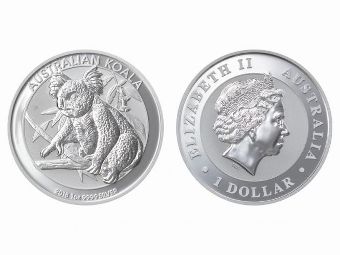 Australien 1$ Koala 2018, 1 Unze  Silber