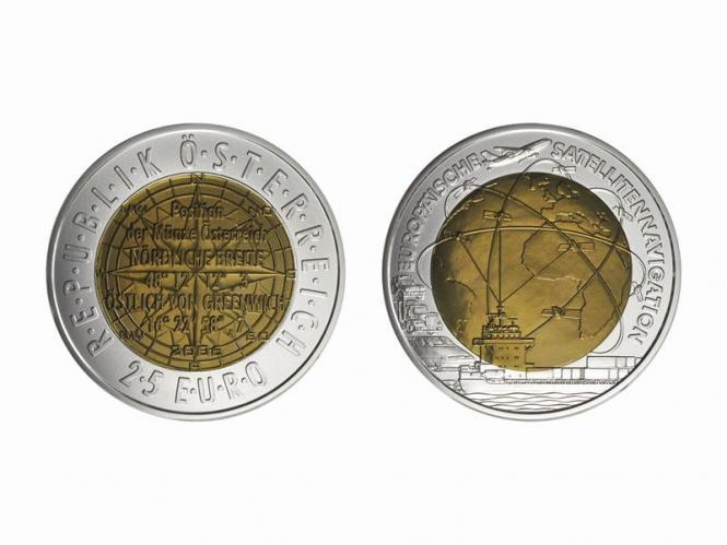 Österreich 25 Euro Niob, Satelitennavigation 2006 ohne Kartonage