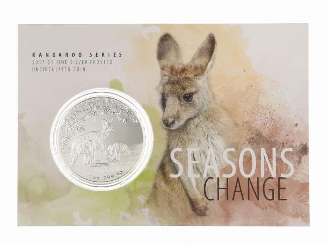Australien 1$ Känguru 2017 Blister, 1 oz  Silber