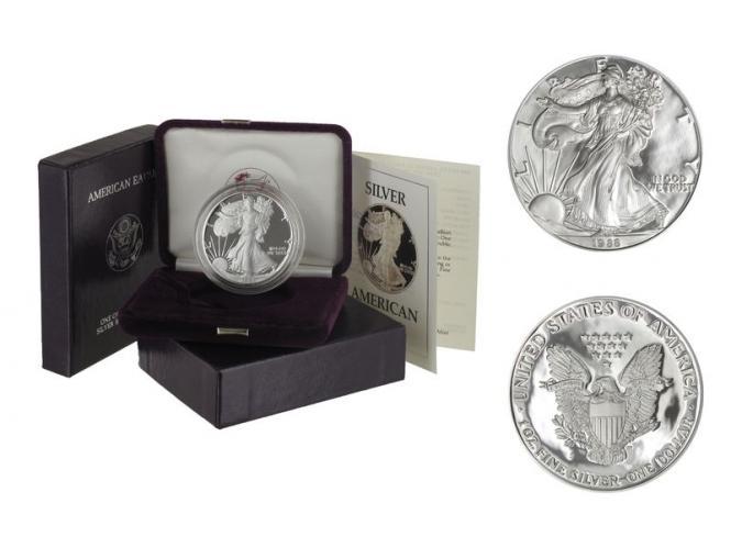 USA 1 Dollar Silver Eagle 1988 PP (proof), (B+C)