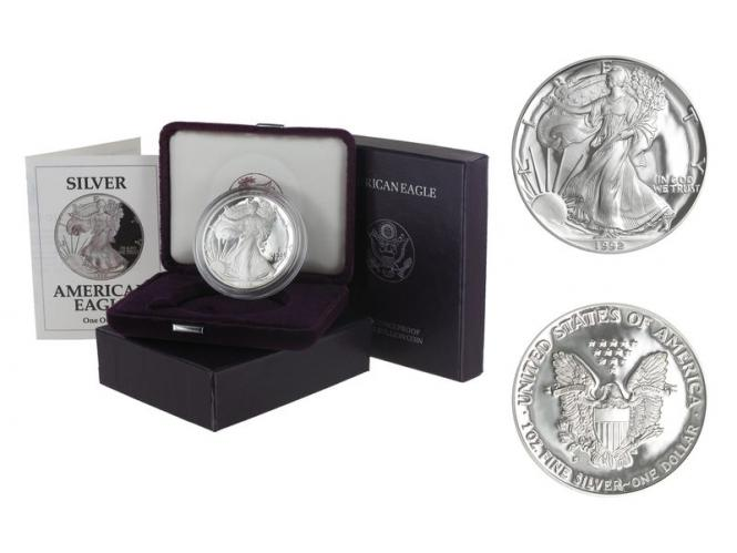 USA 1 Dollar Silver Eagle 1992 PP (proof), (B+C)