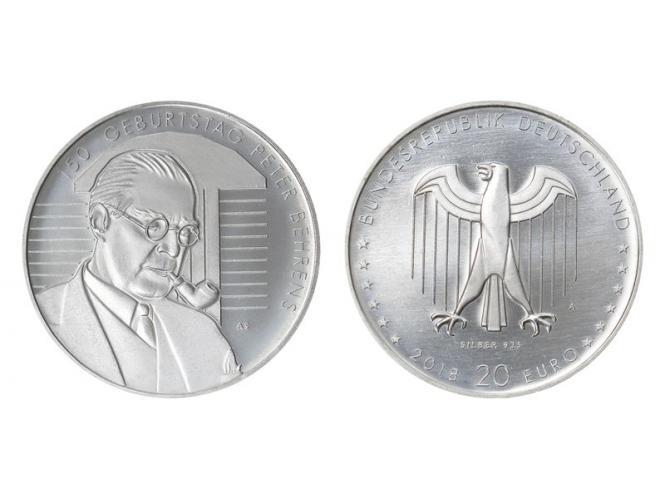 20 € Peter Behrens    Silber 2018
