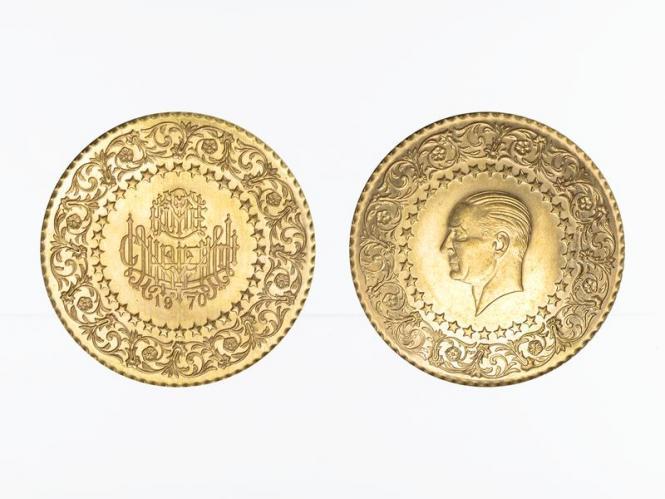 Türkei 250 Kurush Atatürk 1970, Kreis Ornament + Sterne