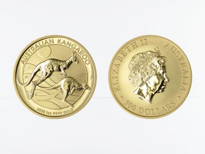 Australien 100 $ Nugget Känguru, 1 Unze  2018