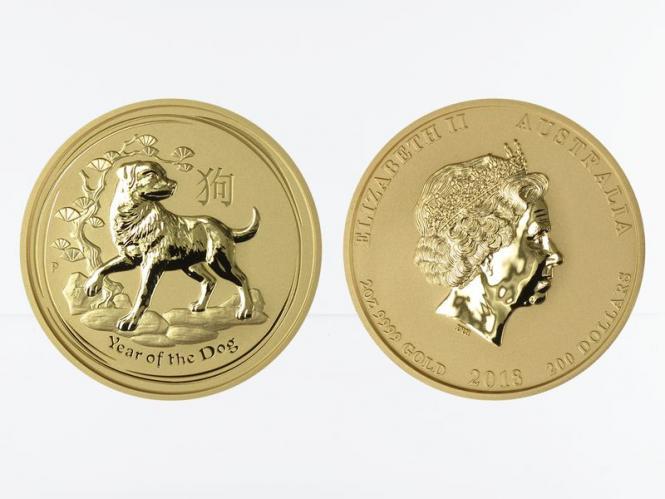 Australien 100 $ Lunar II  Hund, 1 Unze  2018