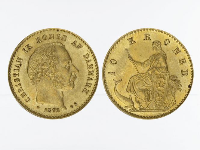 Dänemark Christian IX  1873, 10 Kroner Gold