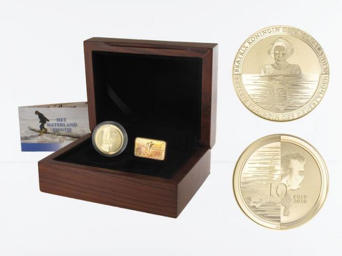 Niederlande 10 Euro Gold, 2010, Waterland,