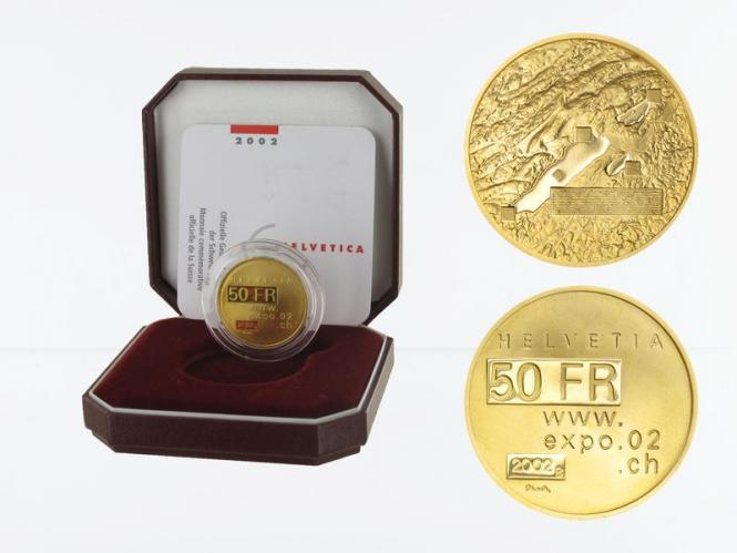 Schweiz 50 Franken Expo 2002, proof