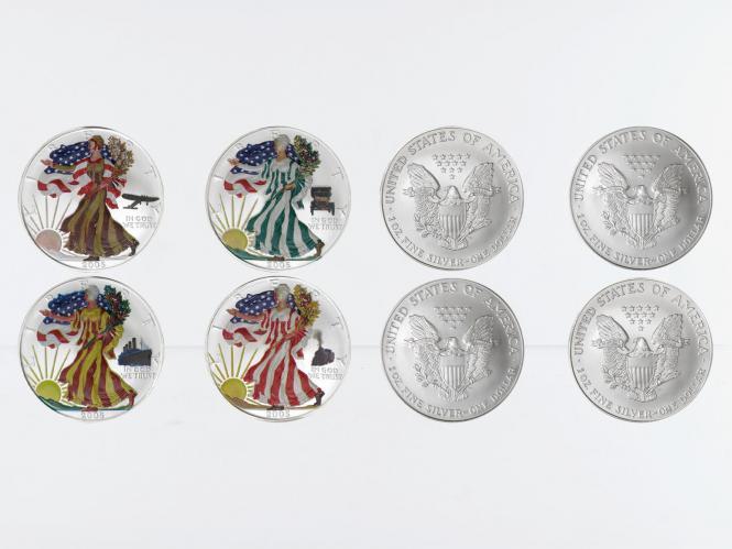 USA 1 Dollar Silver Eagle 2005, Four Seasons, farbig 4 oz