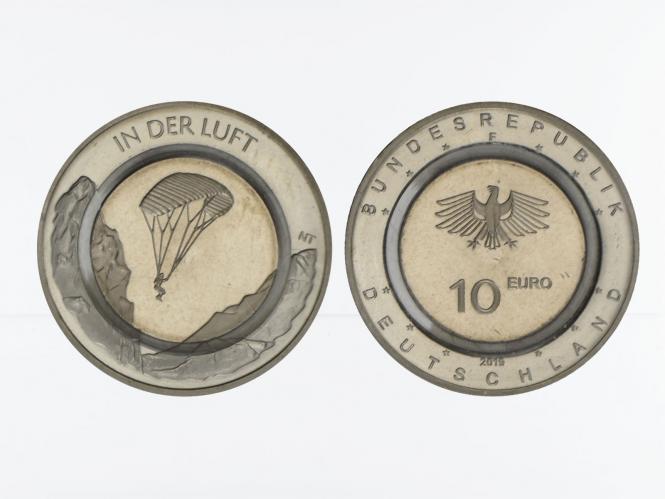 10 € In der Luft mit farblosem Polymerring, 2019
