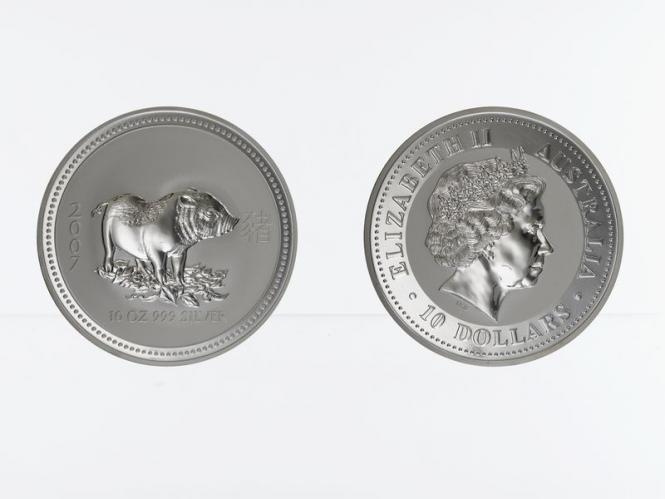 Australien 10 $ Schwein Lunar I  2007, 10 oz  Silber