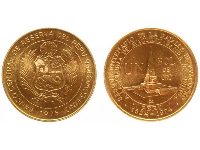 Peru 1 Sol Ehrenmal, 1976