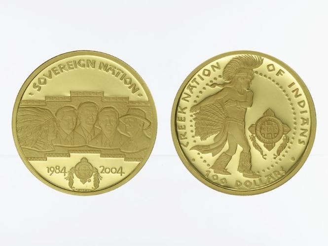 Creek Nation 100 $  Gold, Sky Dancer , 2004 PP