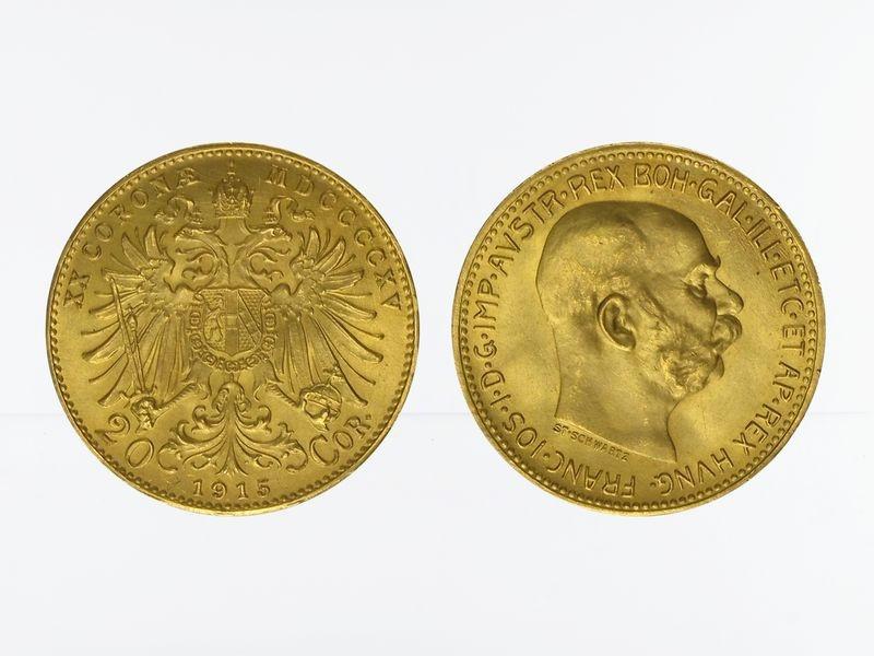 Lohmann Münzen Barren österreich 20 Kronencorona 1915 Gold
