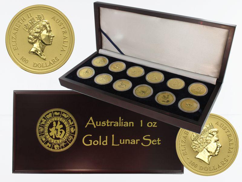 Lohmann Münzen Barren Australien Lunar I Komplett 1996 2007