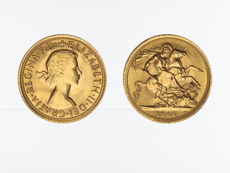 Lohmann Münzen Barren Elizabeth Ii 1966 Gold Goldbarren
