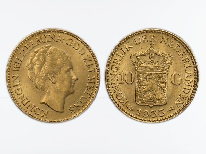 Lohmann Münzen Barren Niederlande 10 Gulden Gold Königin