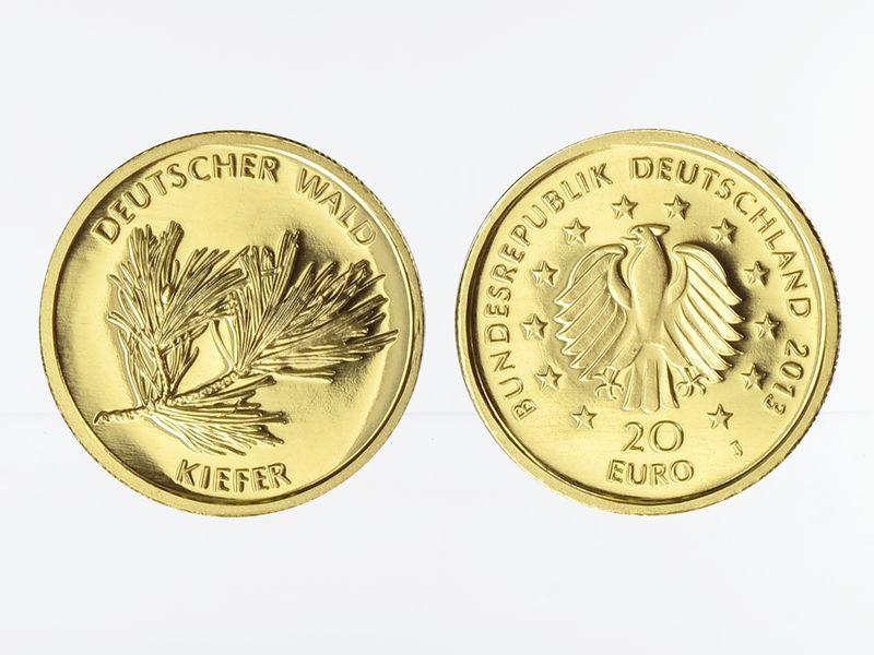 Lohmann Münzen Barren Brd 20 Euro Gold 2013 F Deutscher Wald