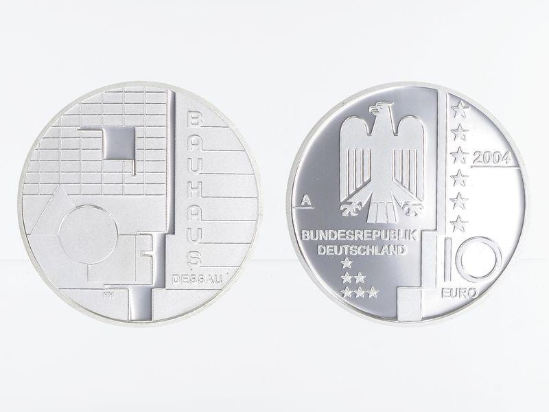 Lohmann Münzen Barren Bauhaus Dessau 10 Silber Pp Gold