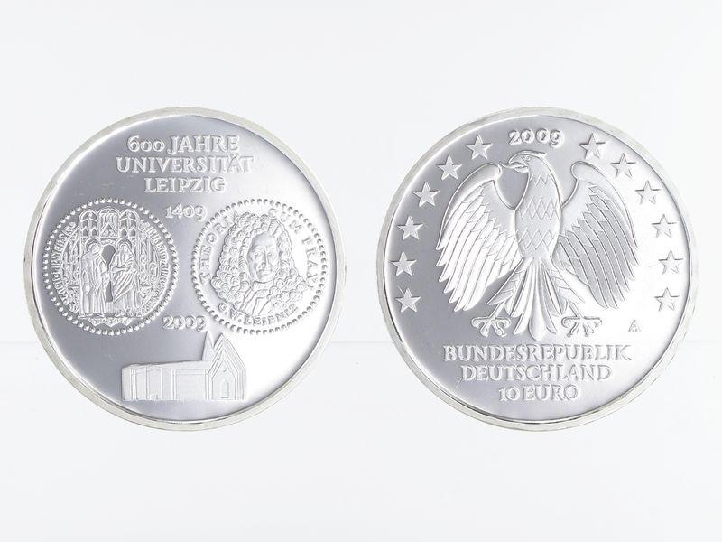 Lohmann Münzen Barren Universität Leipzig 10 Silber Pp