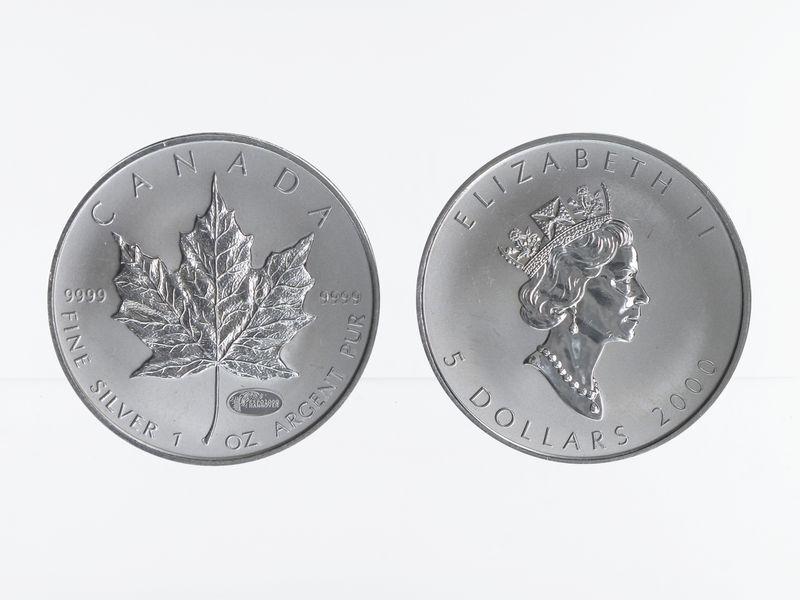 Lohmann Münzen Barren Kanada 5 Maple Leaf 2000 Privy Mark