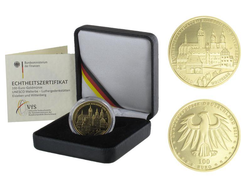 Lohmann Münzen Barren Brd 100 Euro Gold 2017 G Wittenberg