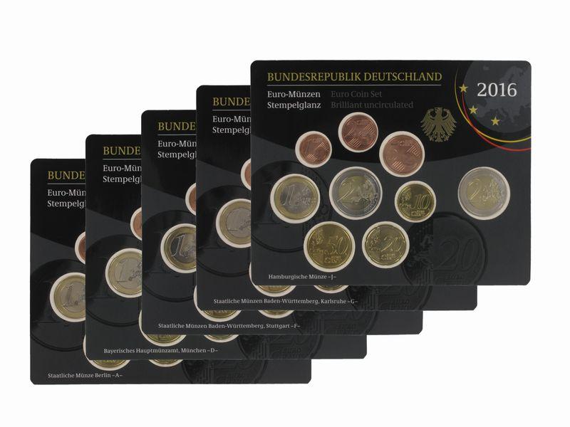 Lohmann Münzen Barren Brd Kms 2016 A D F G J Kpl Stgl Im