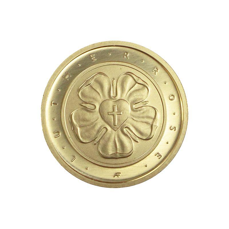 Lohmann Münzen Barren Brd 50 Euro Gold 2017 A Lutherrose