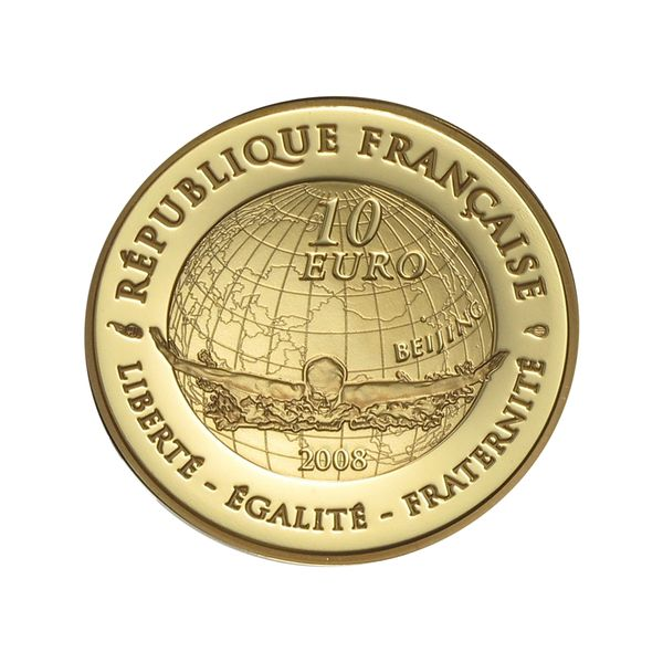 Lohmann Münzen Barren Frankreich 10 Euro Gold 2008 Olympiade