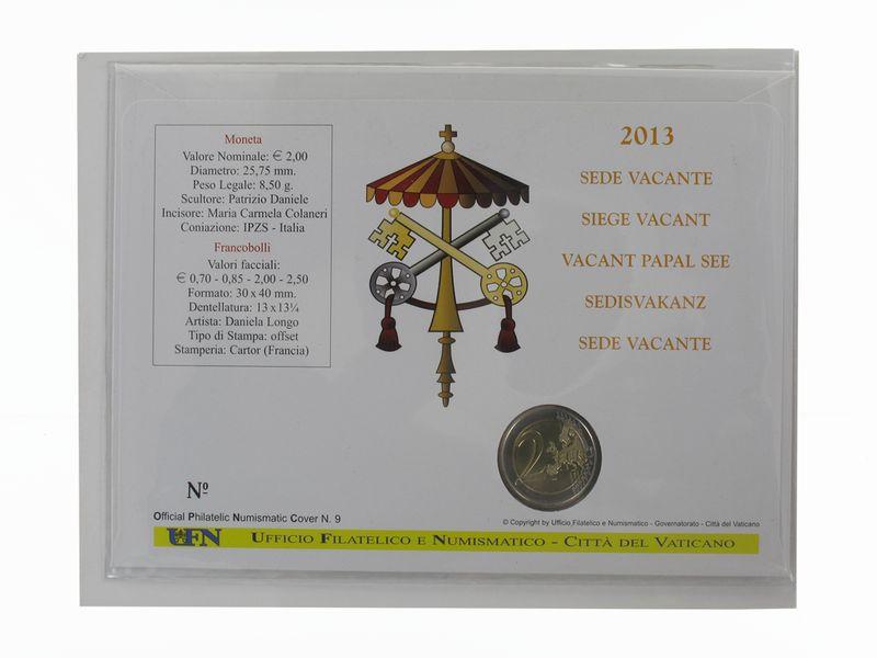 Lohmann Münzen Barren Vatikan 2 Euro Münze 2013 Sede Vacante
