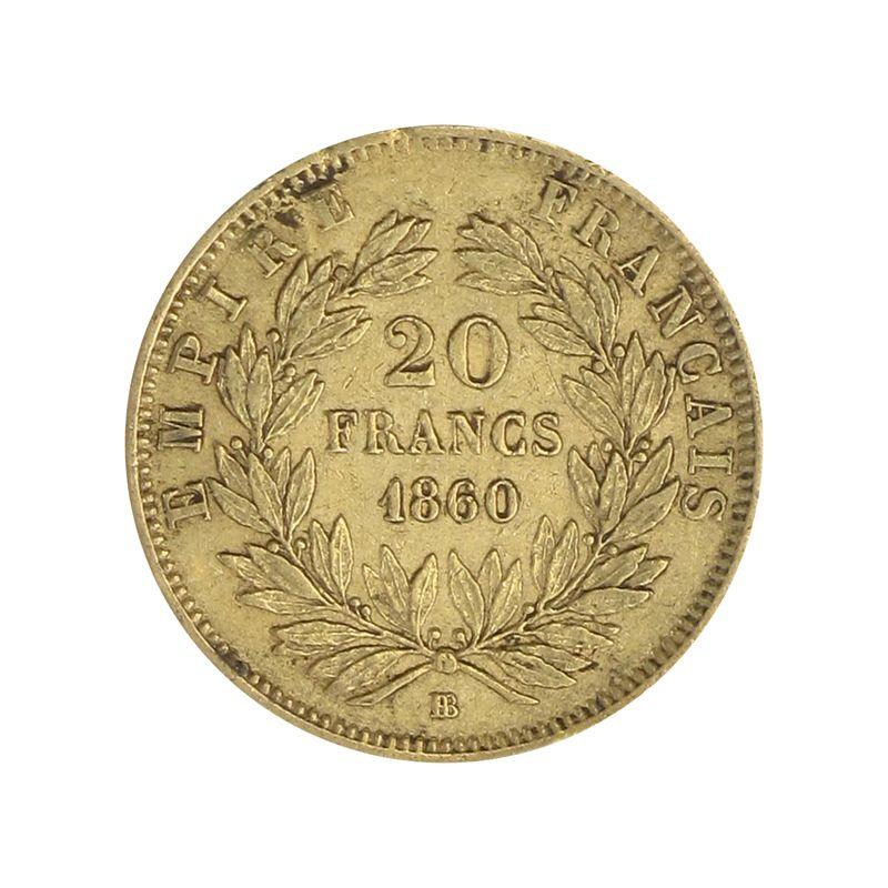 Lohmann Münzen Barren Frankreich 20 Fr Napoleon Iii Kranz
